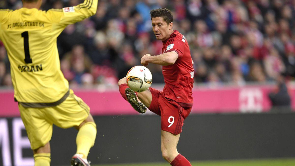 Robert Lewandowski a marqué pour le Bayern lors de la victoire face au FC Ingolstadt