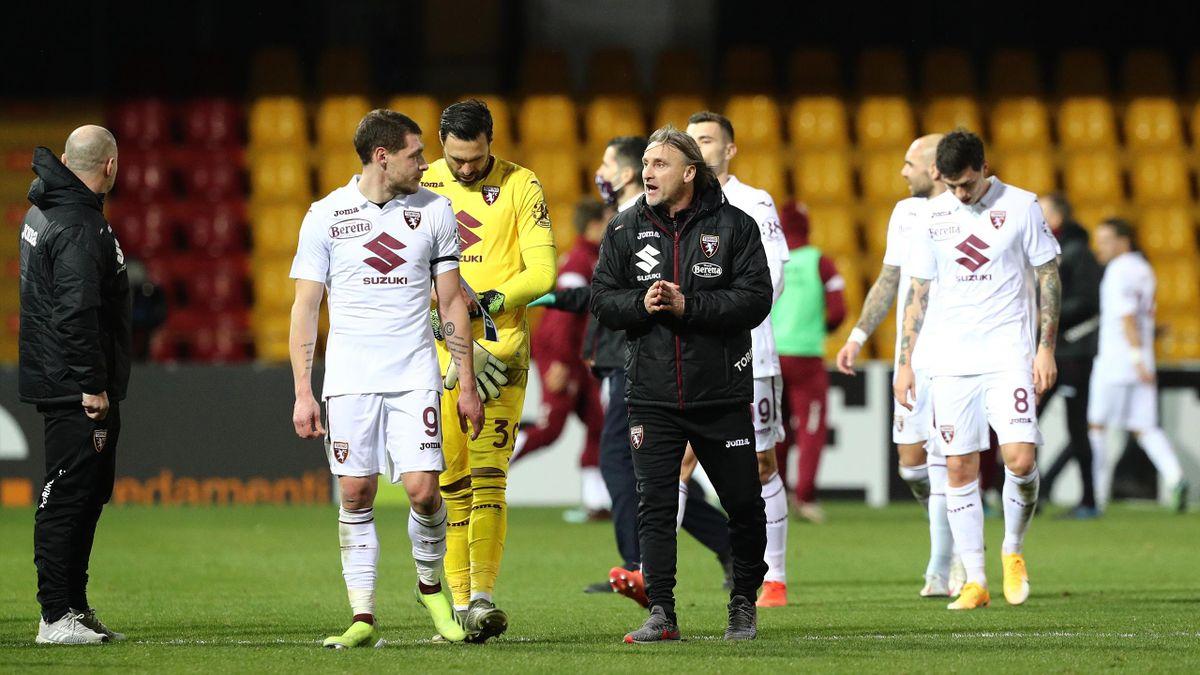 Benevento-Torino, Serie A 2020-2021: Andrea Belotti, Salvatore Sirigu e Davide Nicola (Torino) (Getty Images)