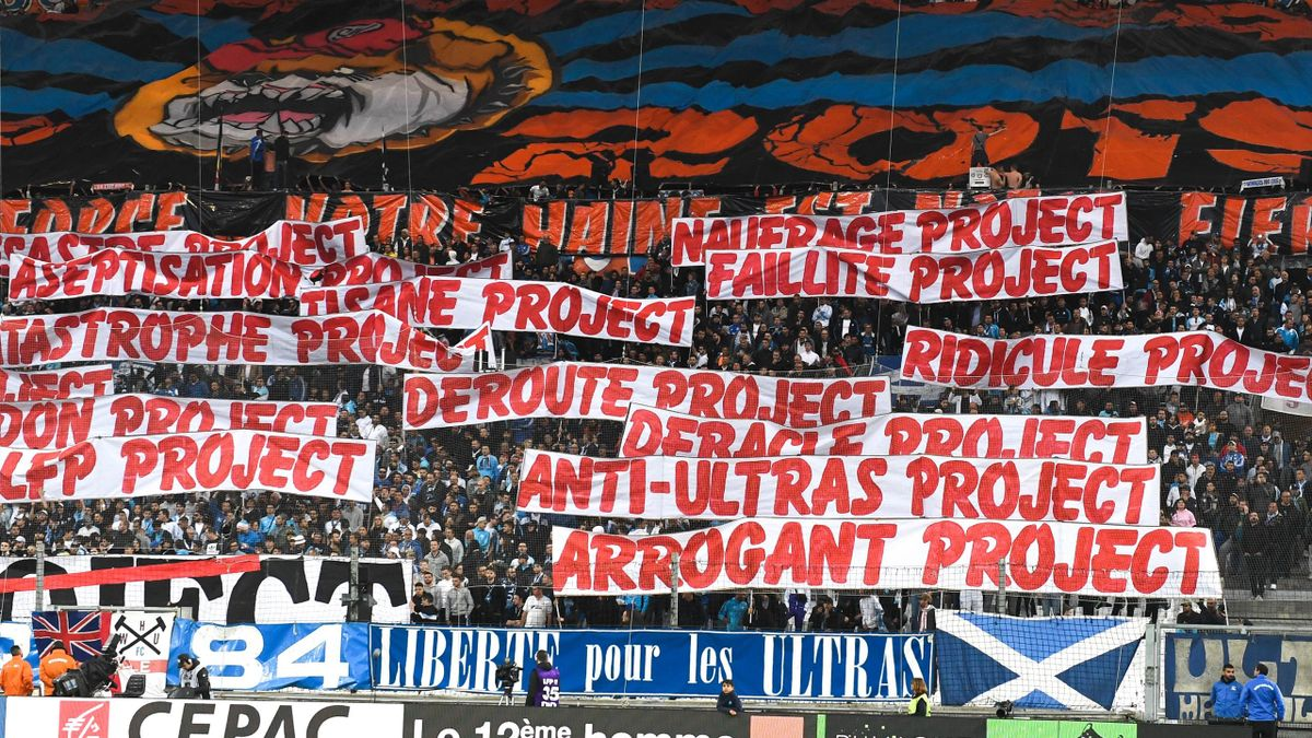 Fans Marseille during the Ligue 1 match between Olympique Marseille and Olympique Lyonnais on May 12, 2019 in Marseille, France. (Photo by Alexandre Dimou/Icon Sport via Getty Images)