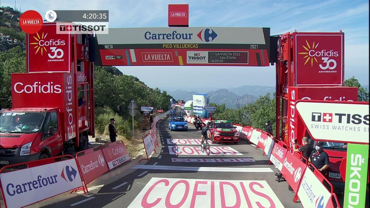 Vuelta a España: Stage 14 - Romain Bardet climbs to victory in the mountains