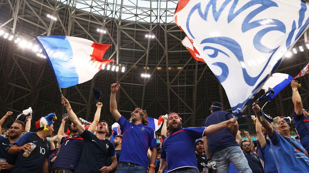 Les supporters des Bleus face au Portugal