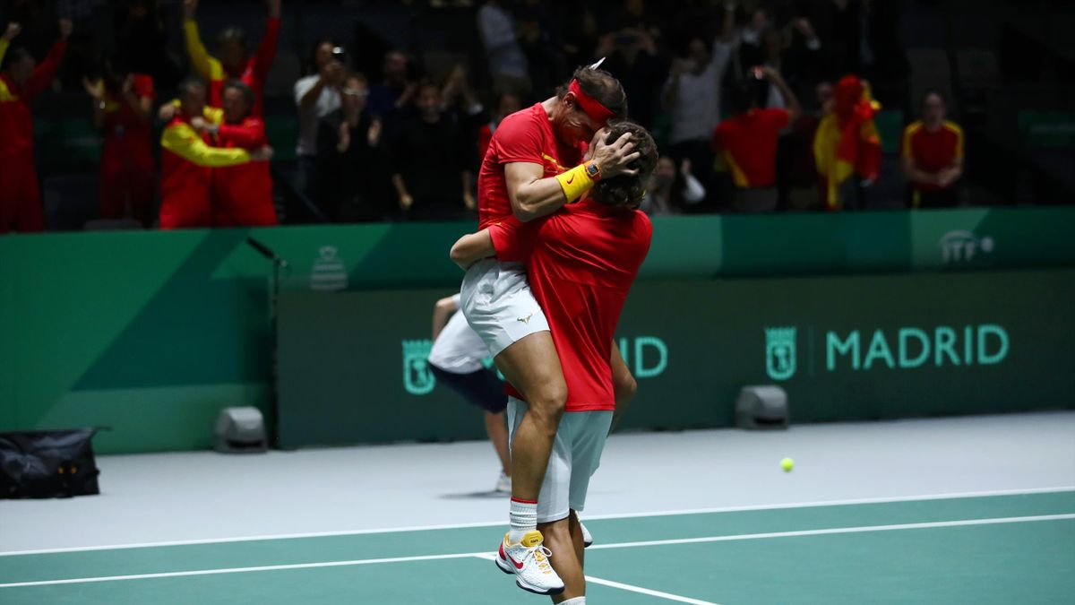 Watch the moment Spain clinched victory over Great Britain in their dramatic Davis Cup semi-final in Madrid.
