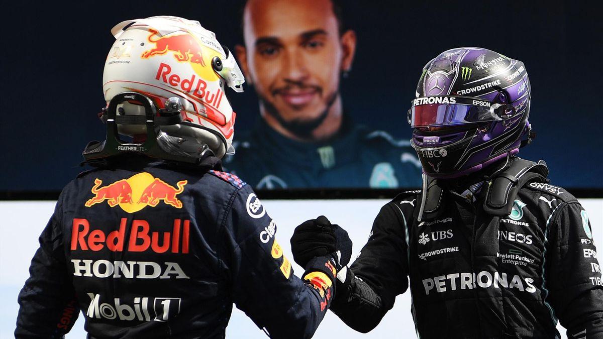 Max Verstappen und Lewis Hamilton in Portimão