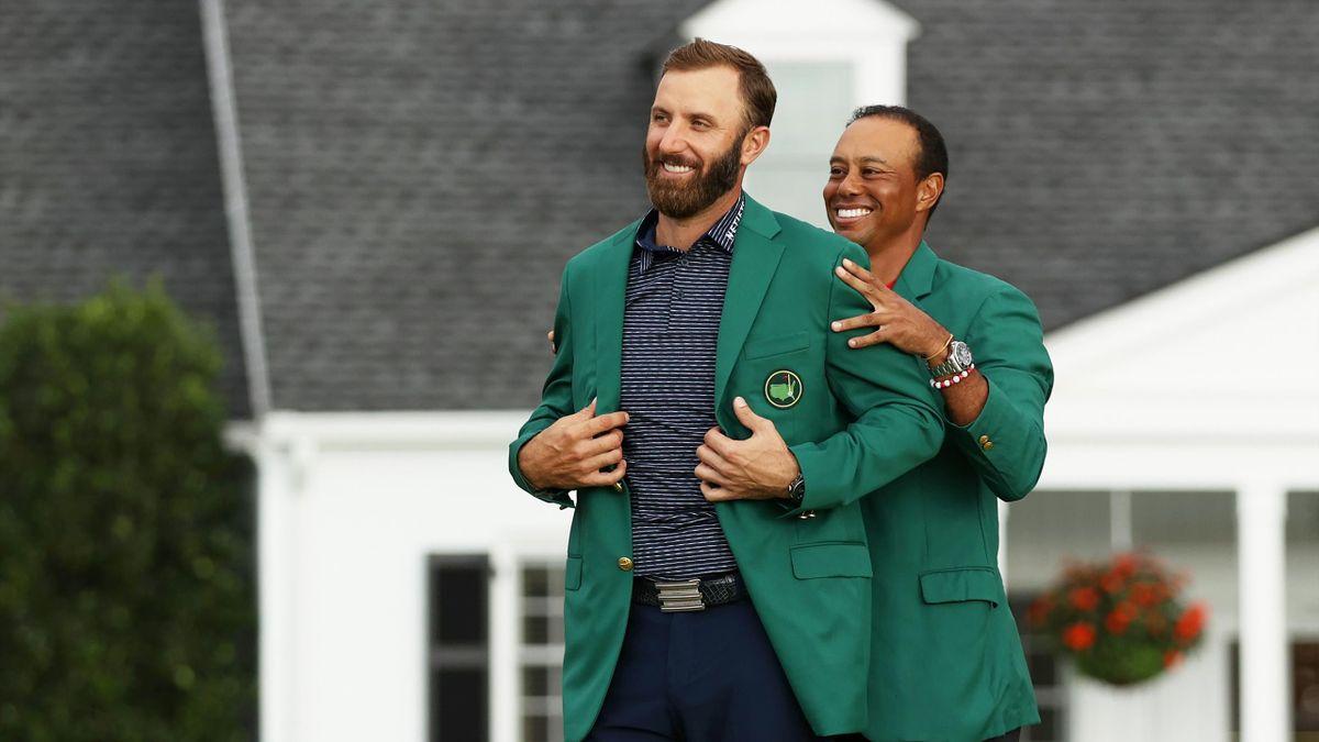 Dustin Johnson und Tiger Woods