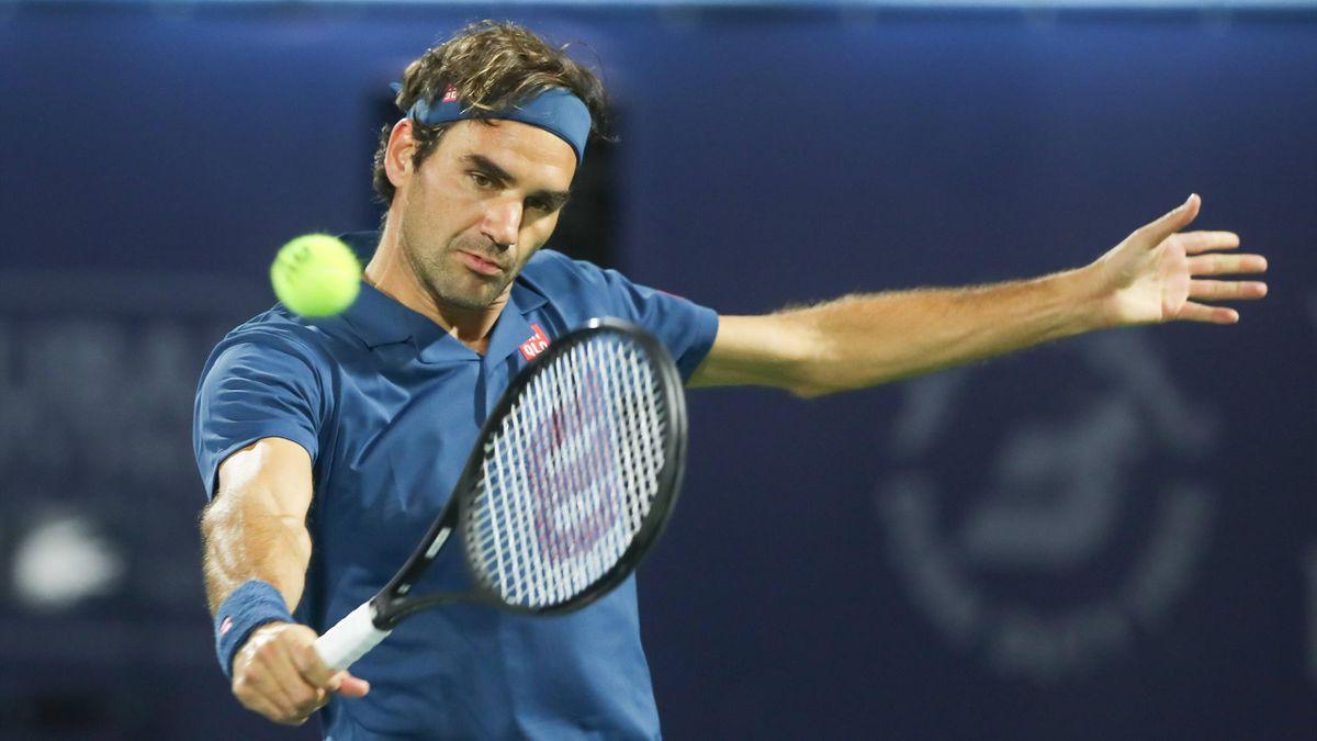 Roger Federer beim ATP-Turnier in Dubai