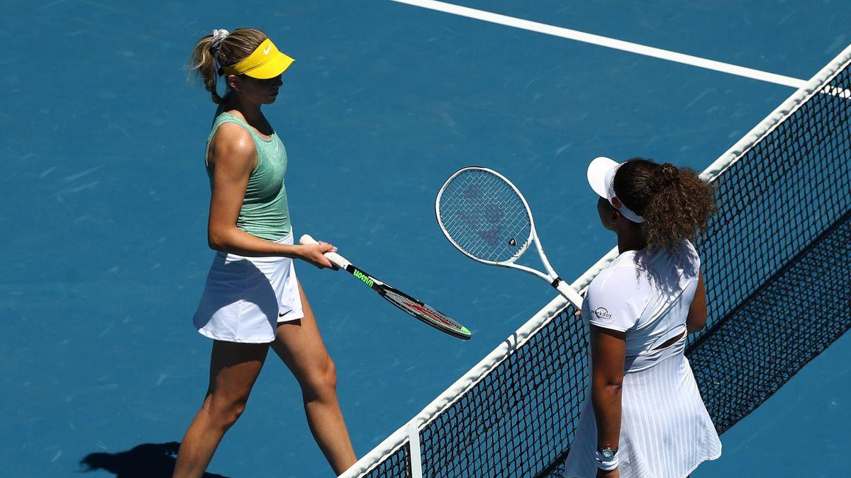Katie Boulter (L) and Naomi Osaka (R)