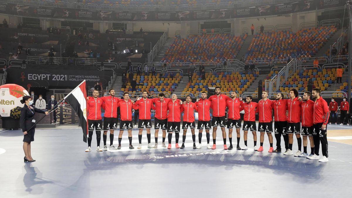 L'équipe d'Egypte au mondial de Handball