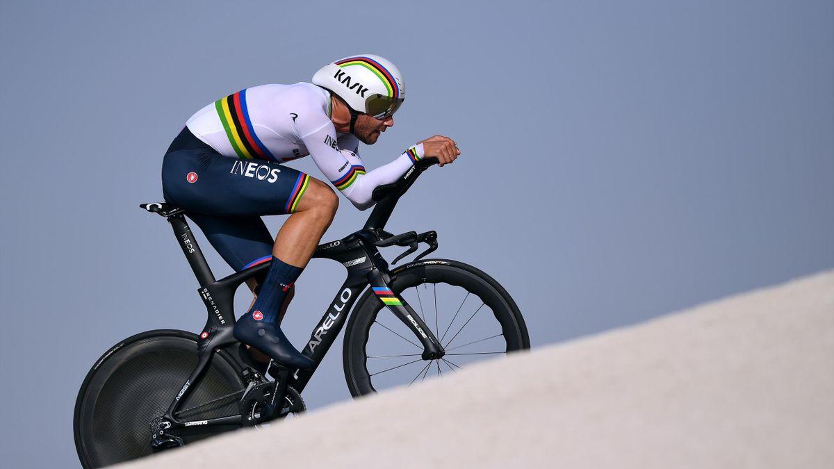 UAE TOUR 2021: Filippo Ganna vince la Crono