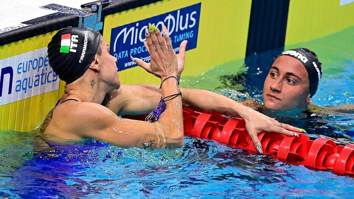 Martina Rita Caramignoli e Simona Quadarella agli Europei di Nuoto di Budapest