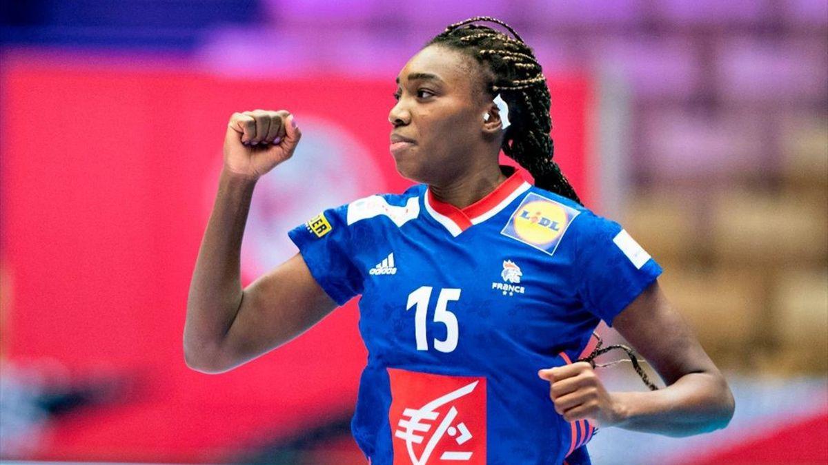 Kalidiatou Niakate lors du match de l'Euro féminin entre la France et l'Espagne