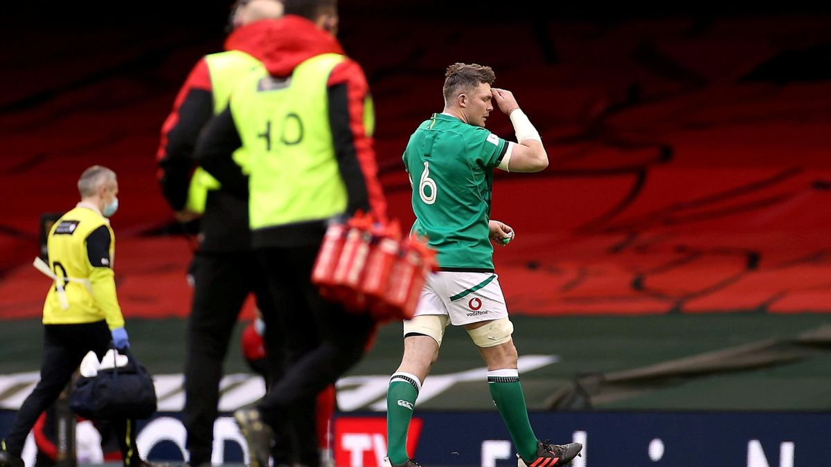 Peter O'Mahony of Ireland walks off, Guinness Six Nations match between Wales and Ireland, Principality Stadium, Cardiff, Wales, February 07, 2021