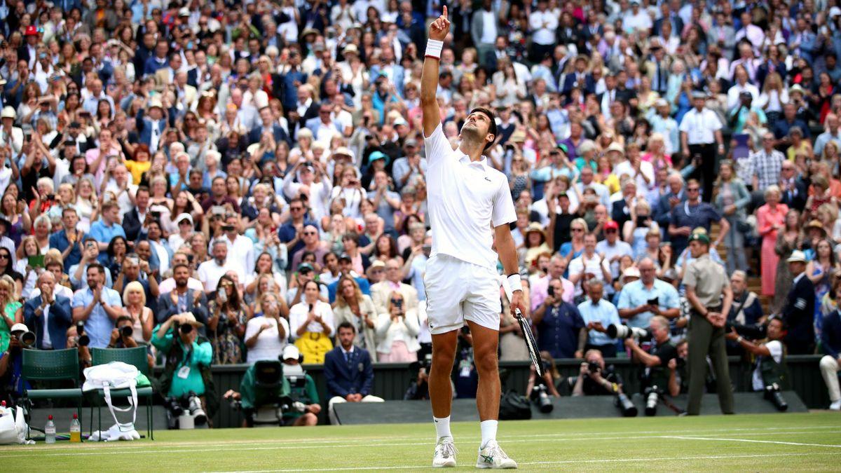 Novak Djokovic a Wimbledon 2019
