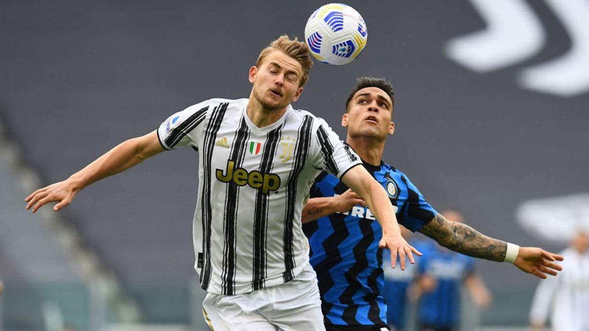Juventus-Inter, fallo di Lautaro su De Ligt
