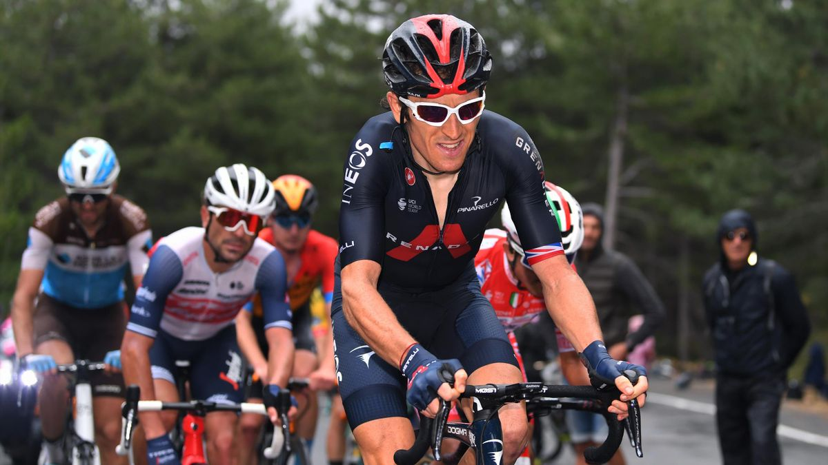 Geraint Thomas suffers during Stage 3 of the Giro d'Italia 2020