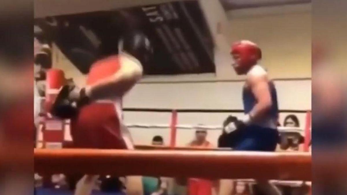 Конор Макгрегор боксирует в Дублине