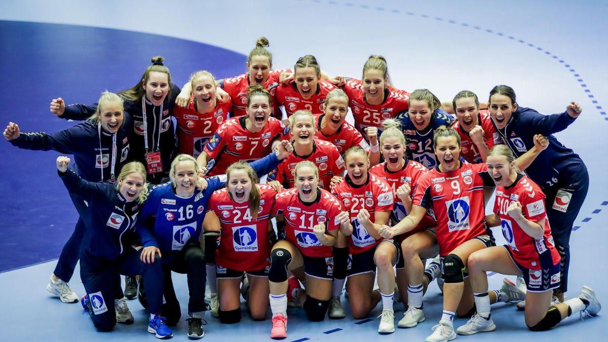 De norske håndballjentene.