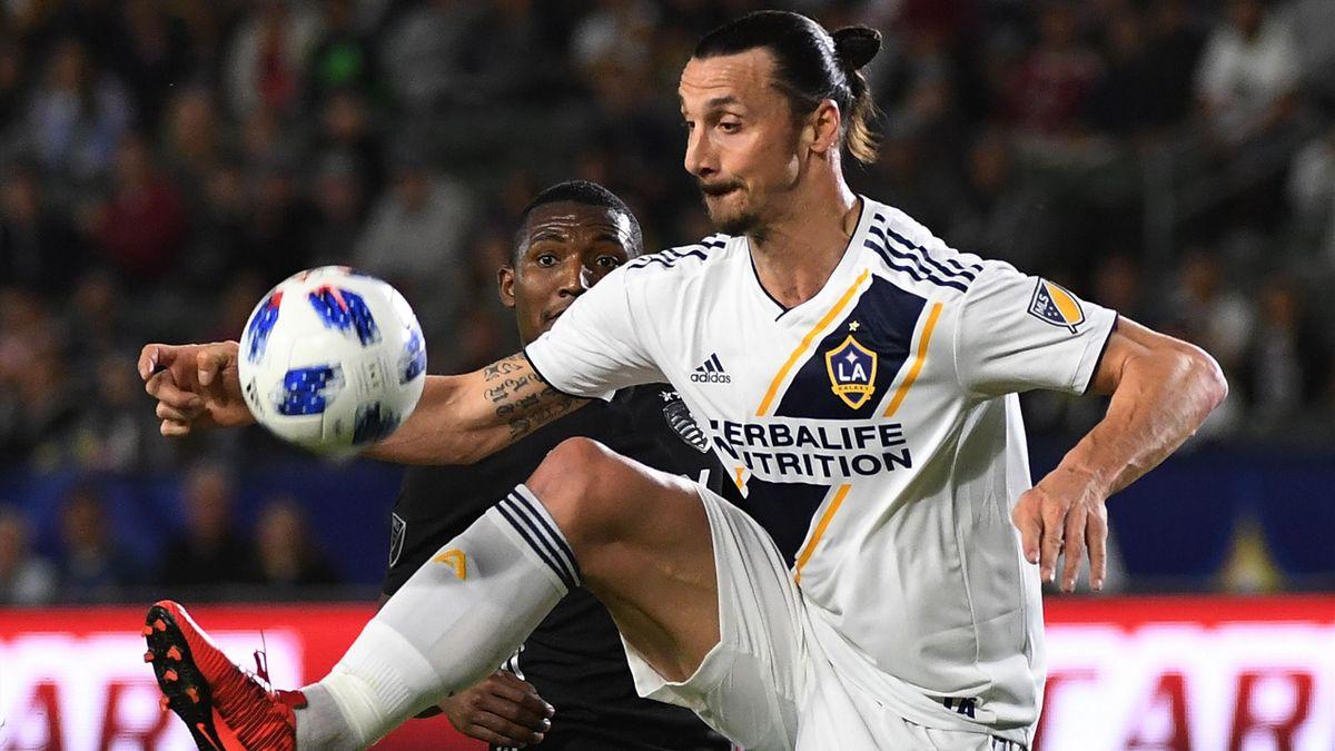 Zlatan Ibrahimovic , Los Angeles Galaxy-Kansas City, MLS