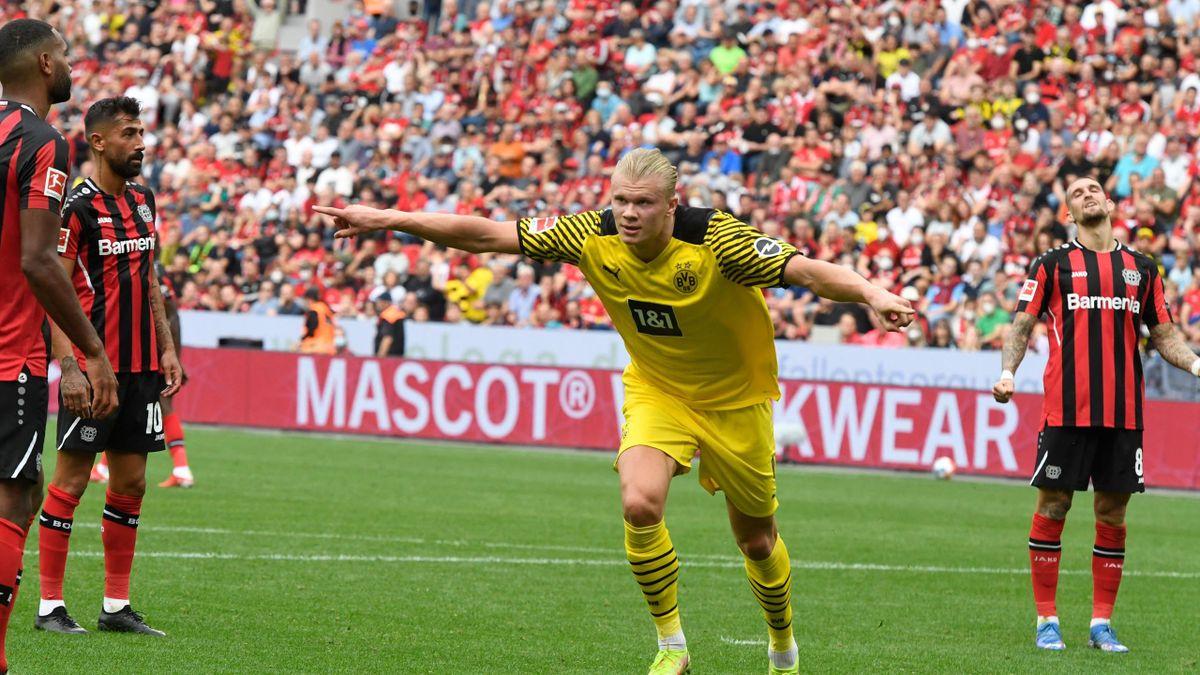 Erling Haaland a inscrit un doublé dans le match fou face à Leverkusen