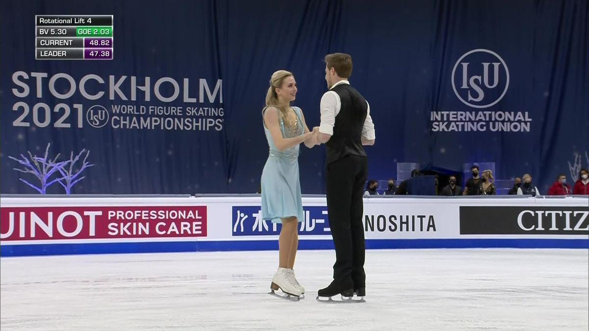 Après la danse rythmique, le duo Sinitsina-Katsalapov bien placé pour le titre mondial