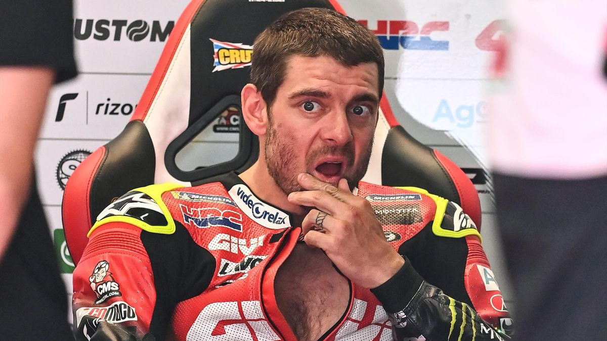 LCR Honda Castrol British rider Cal Crutchlow waits in the garage during the second training of Moto GP Austrian Grand Prix at Red Bull Ring circuit in Spielberg, Austria on August 14, 2020