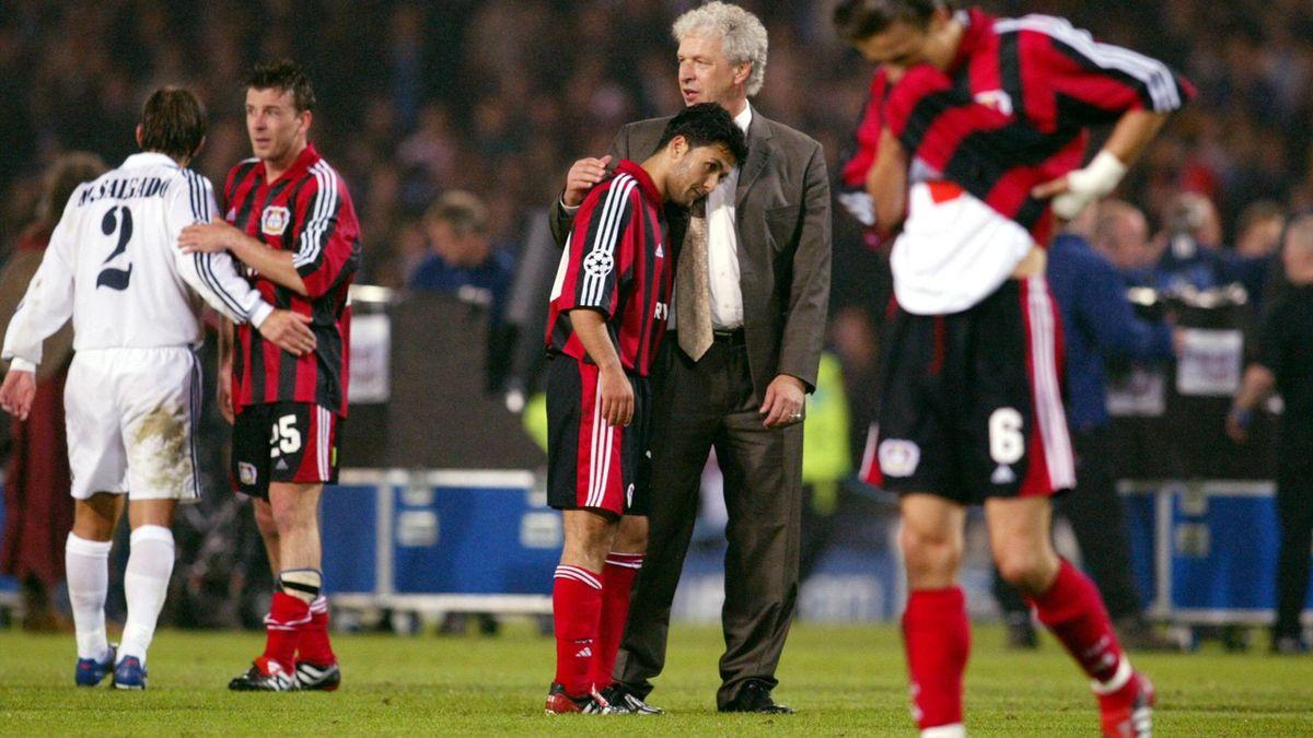 Die Leverkusener nach der Niederlage
