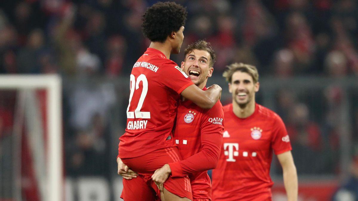Serge Gnabry et Leon Goretzka (Bayern Munich) face à Dortmund
