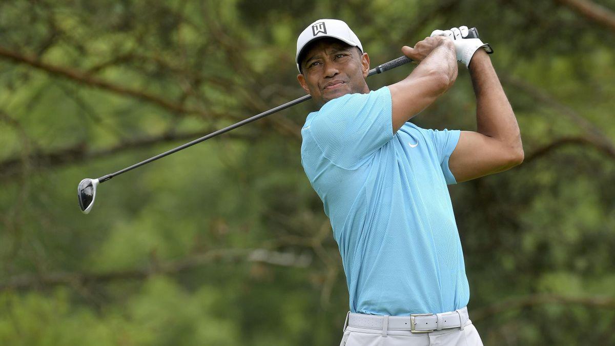 Tiger Woods lors de son retour