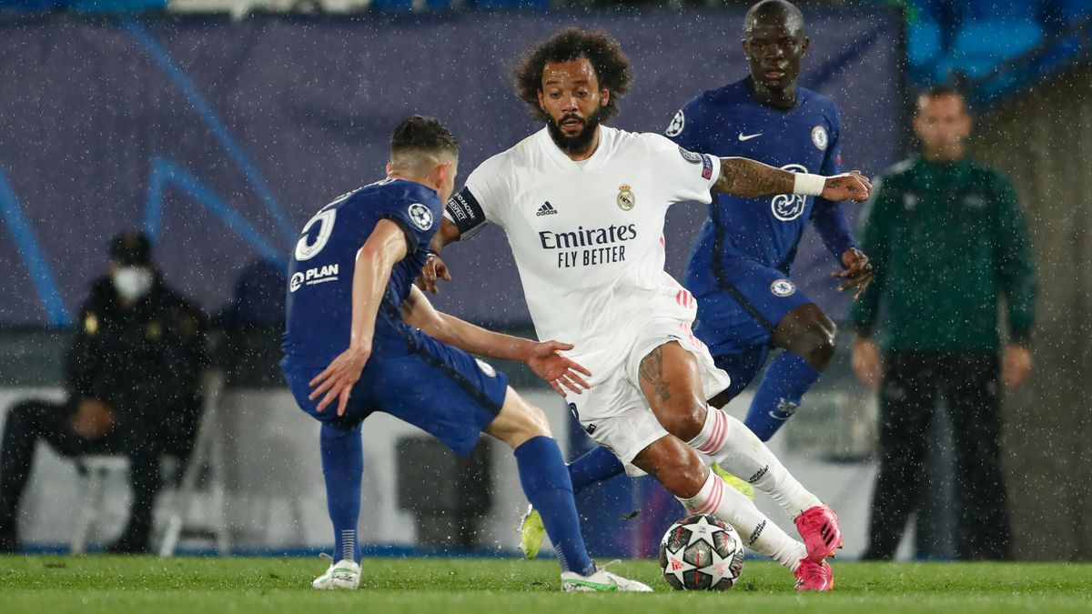 Marcelo (weißes Trikot) im Halbfinal-Hinspiel gegen den FC Chelsea