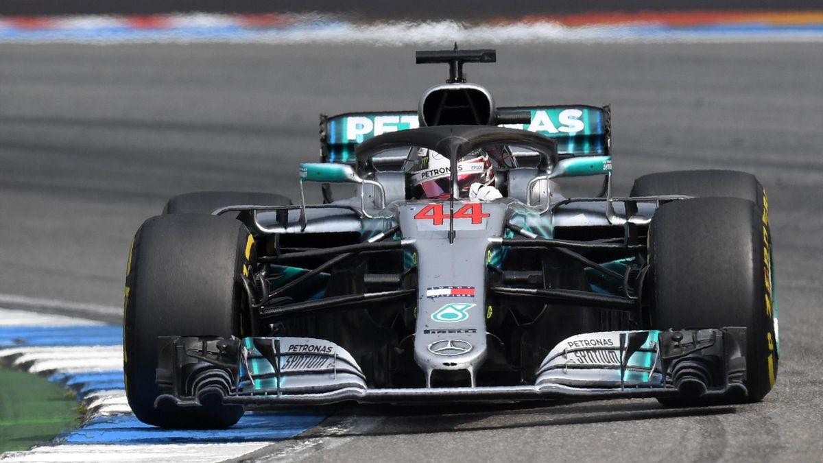 Lewis Hamilton lors du Grand Prix d'Allemagne 2018