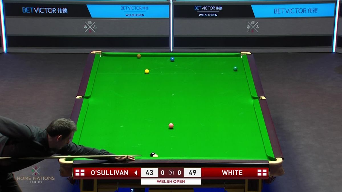White lays two 'evil' snookers, O'Sullivan escapes both