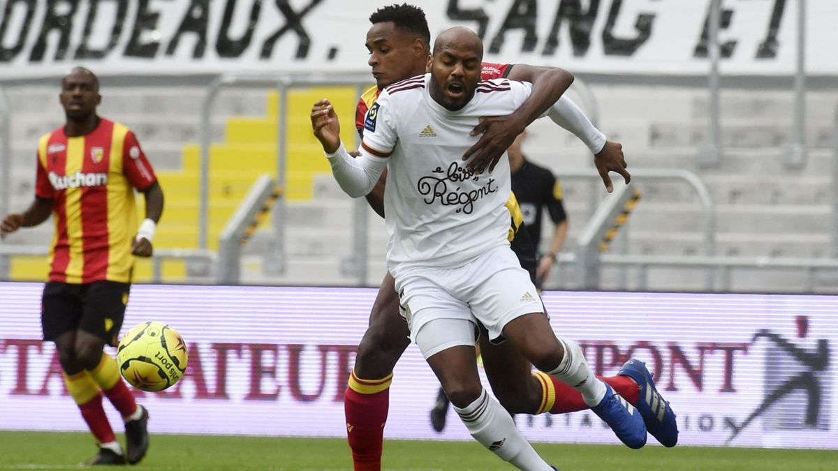 Steven Fortes (Lens) et Jimmy Briand (Bordeaux) - Ligue 1