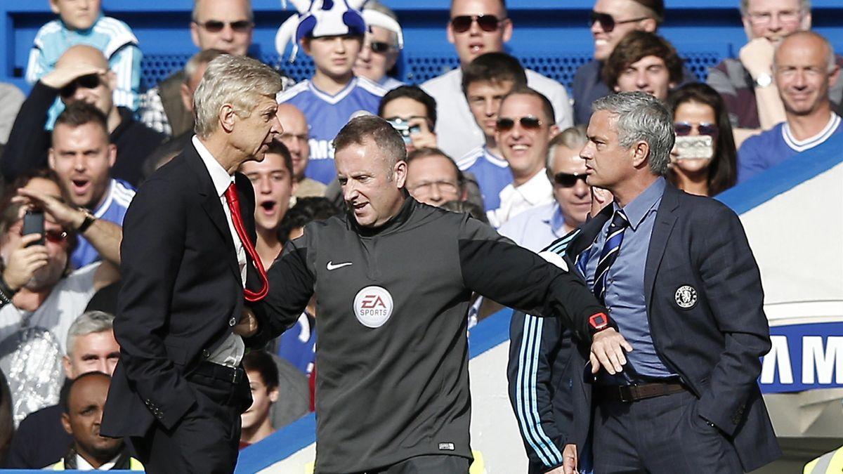 Arsène Wenger (l.) und José Mourinho (r.) sind schon öfter aneinander geraten