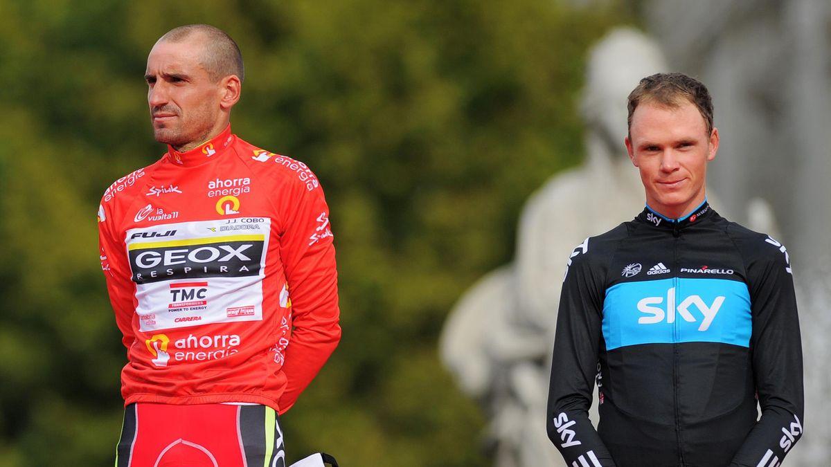 Juan José Cobo et Christopher Froome lors de la Vuelta 2011.