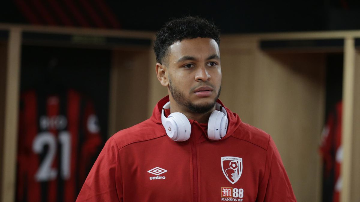 oshua King of Bournemouth in the home dressing room before the Premier League match between AFC Bournemouth and Burnley