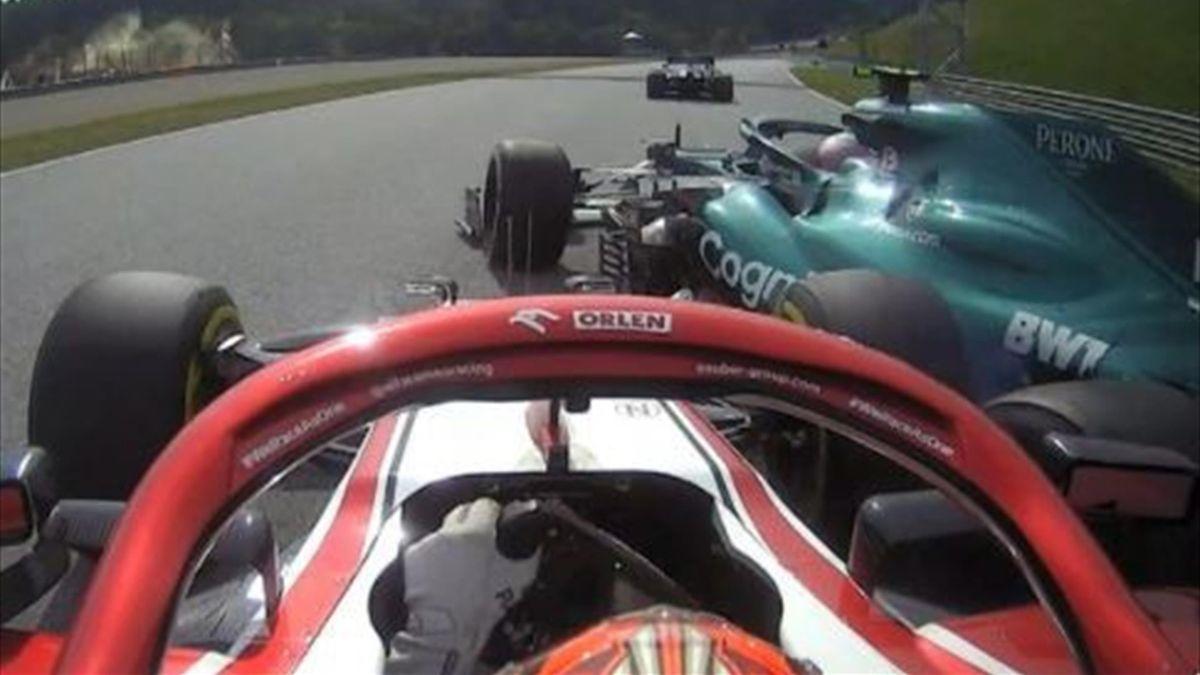 Kimi Räikkönen räumt Sebastian Vettel in Spielberg ab