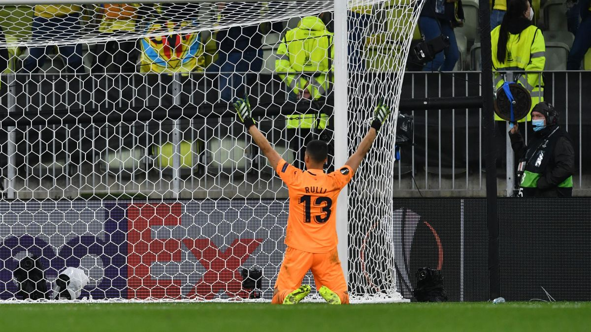 Geronimo Rulli (Villarreal) décisif en finale de la Ligue Europa contre Manchester United, le 26 mai 2021