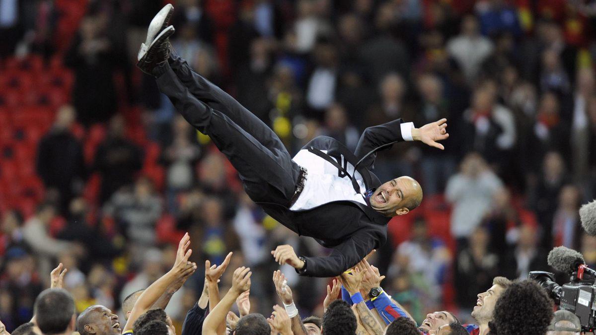 Pep Guardiola porté aux nues après le sacre européen du Barça en 2011