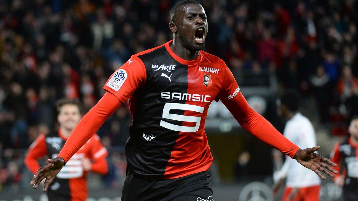 Mbaye Niang, l'attaquant du Stade Rennais.