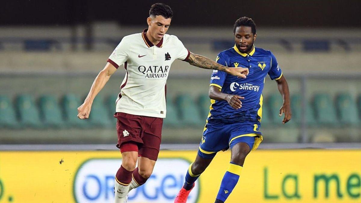 Ibanez e Tameze - Verona-Roma - Serie A 2020-21