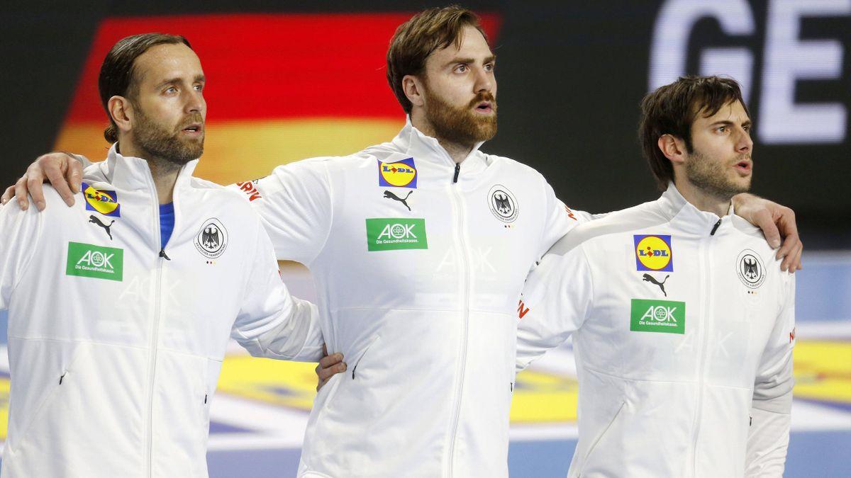 Silvio Heinvetter, Andreas Wolff und Uwe Gensheimer
