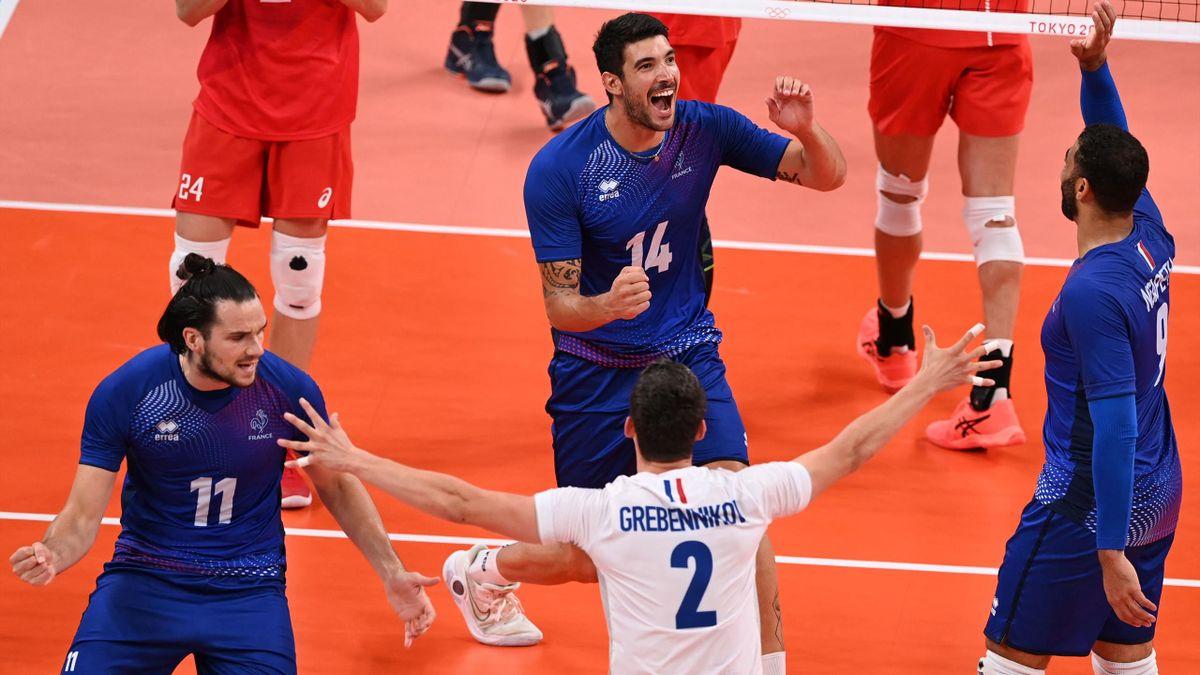 L'équipe de France lors de la finale du tournoi olympique face à la Russie.