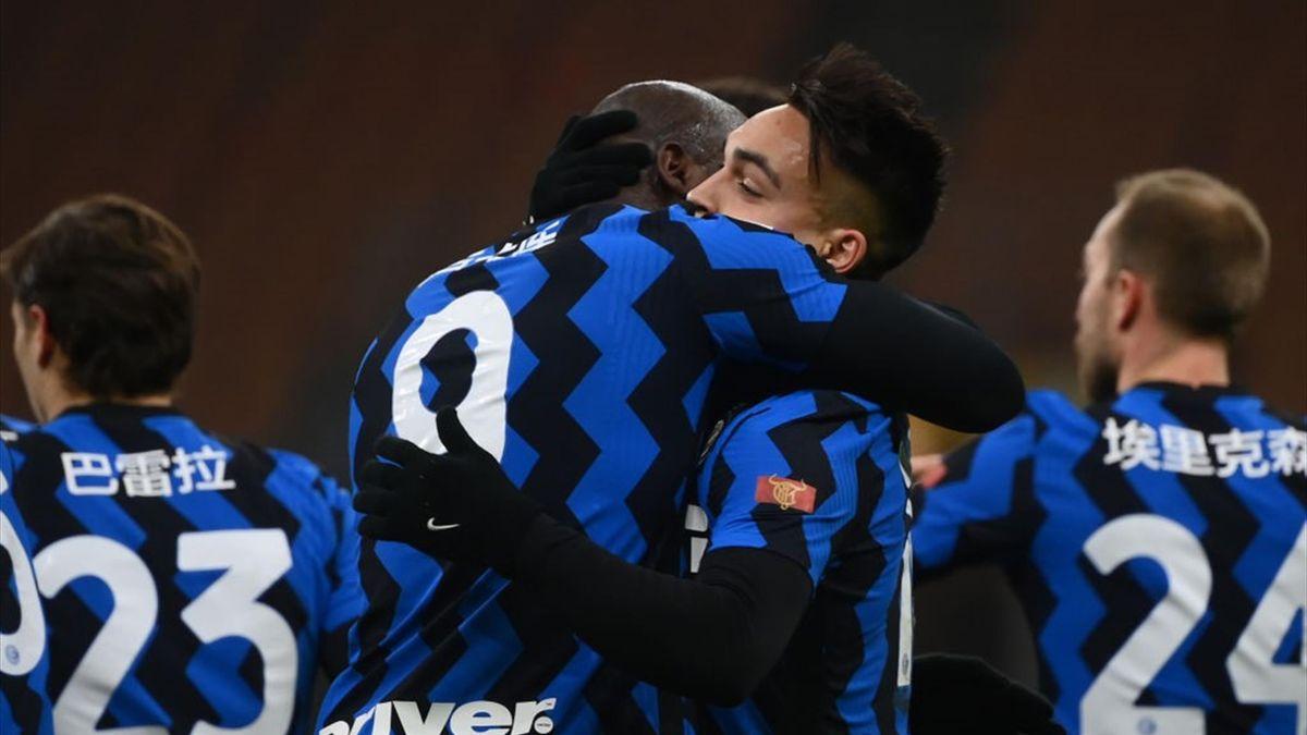 Romelu Lukaku, Lautaro Matinez - Inter-Lazio Serie A 2020-21