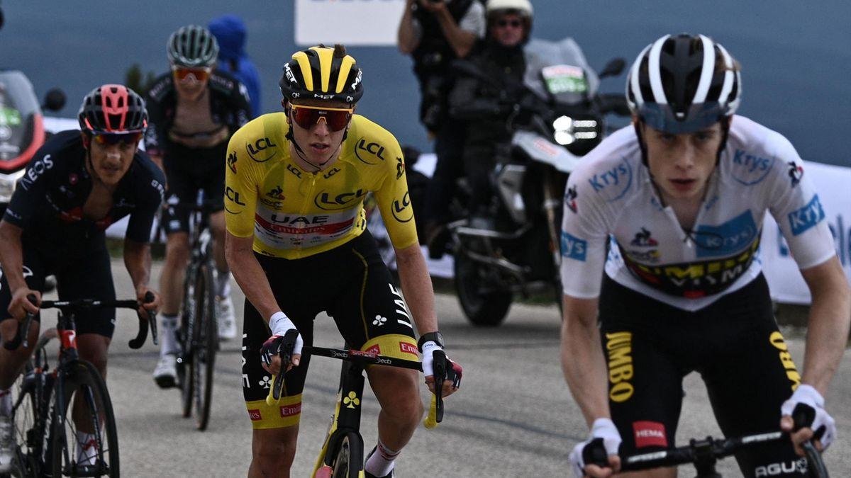 Pogacar fikk det tungt mot Vingegaard opp til Mont Ventoux
