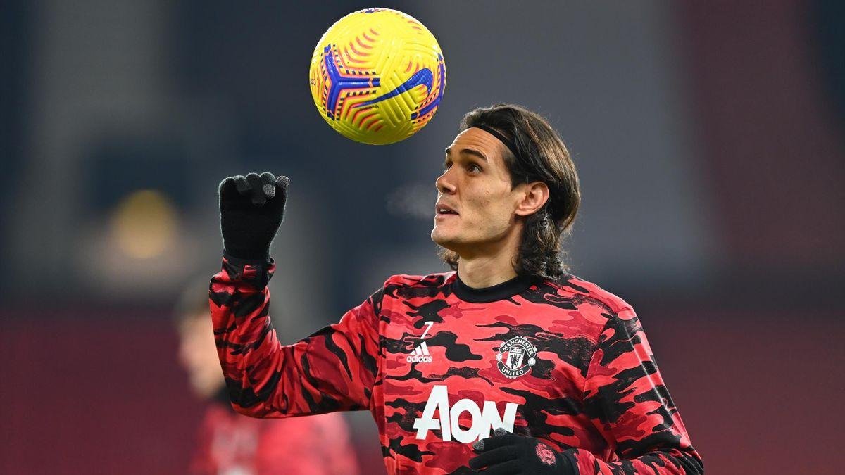 Manchester United's Edinson Cavani