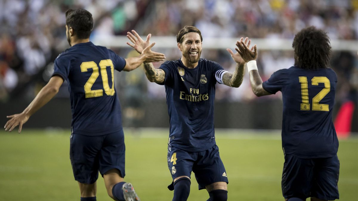 Серхио Рамос, Марко Асенсио, Марсело («Реал» Мадрид)