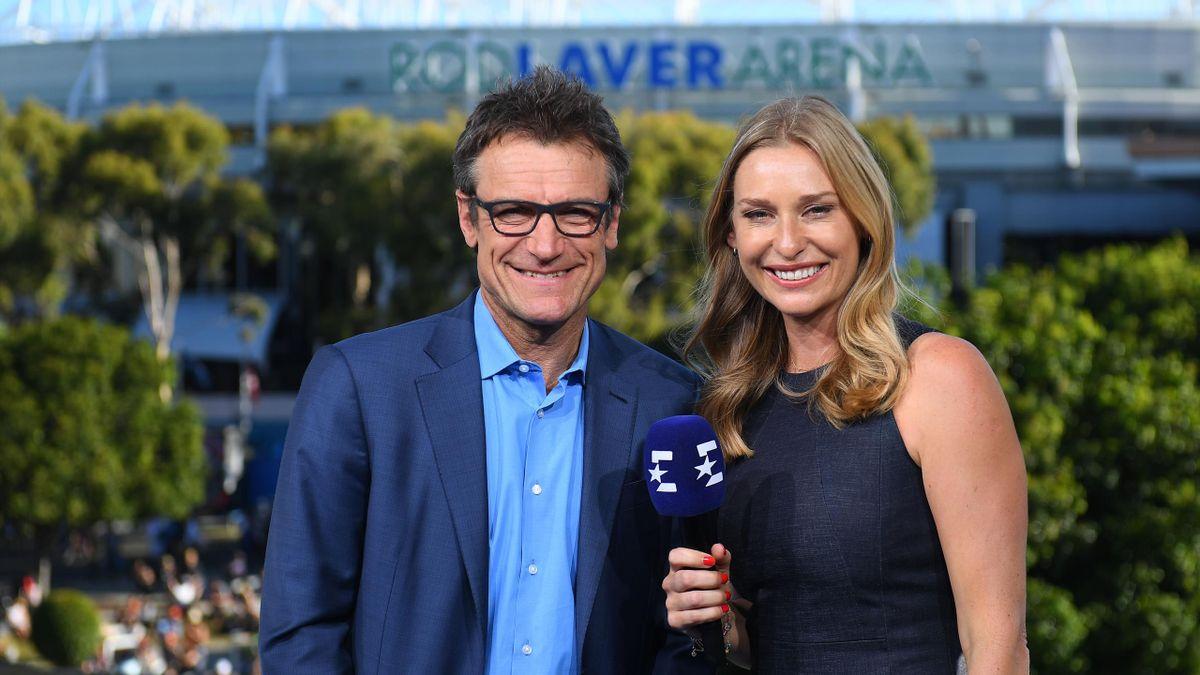Mats Wilander und Barbara Schett bei den Australian Open