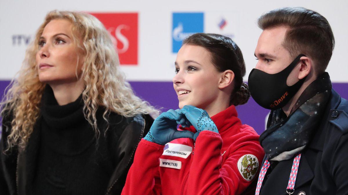 Анна Щербакова с тренерами
