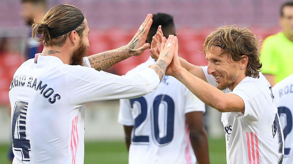 Sergio Ramos și Luka Modric (Real Madrid)