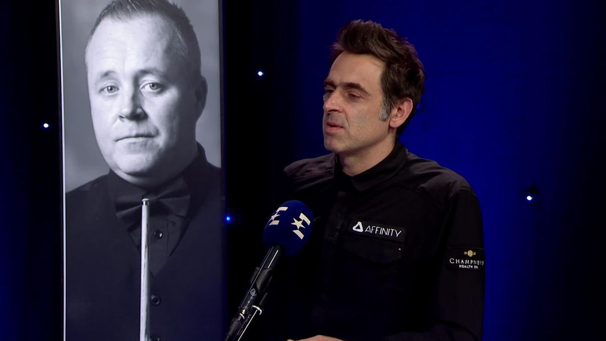 Snooker SCottish Open: Interview of Ronnie O'Sullivan in studio after his win over Robbie Williams