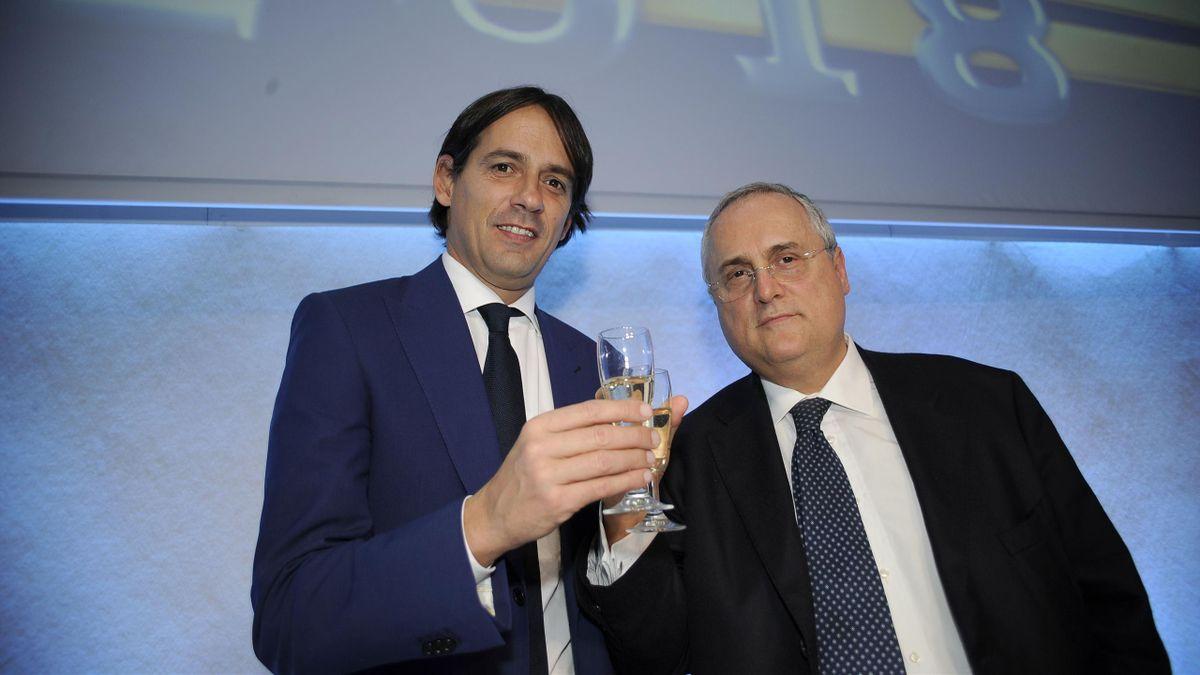 Simone Inzaghi e Claudio Lotito, Lazio